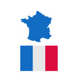 france flat icon vector image