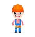 Friendly builder with helmet vector image vector image