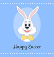 greeting card with a sweet easter bunny vector image