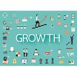 Growth flat icon vector image