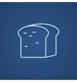 Half of bread line icon vector image vector image