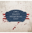 Happy Memorial Day national Badge with Ribbon vector image vector image