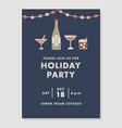 happy new year greeting card invitation holiday vector image vector image