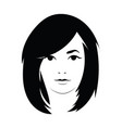head of a beautiful girl face of a young vector image vector image
