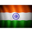indian flag blowing in wind eps 10 vector image