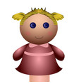 isolated girl puppet vector image