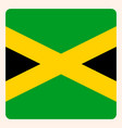 jamaica square flag button social media vector image