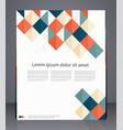 layout business flyer magazine cover vector image
