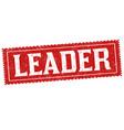 leader sign or stamp vector image vector image