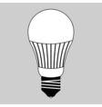 led light bulb vector image