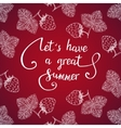 Let have a great summer vector image