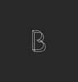 letter b logo monogram geometric shape modern vector image vector image