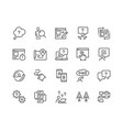 line ui and ux icons vector image vector image