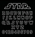 lines alphabet font template set of letters vector image