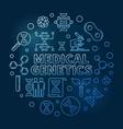 medical genetics round blue outline vector image vector image