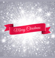 merry christmas banner with snowflakes background vector image vector image