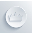 modern crown on gray background vector image