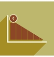 Modern flat icon with shadow economic graph vector image vector image