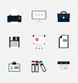 Modern icons collection of business elements vector image