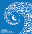 moon icon Nice set of beautiful icons twisted vector image vector image