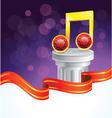 music note award vector image vector image