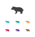 of zoology symbol on grizzly vector image vector image
