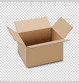 open carton box icon isolated on transparent vector image