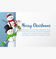 origami paper art style postcard snowman with vector image vector image