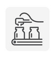 pharmaceutical production icon vector image vector image