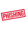 phishing rubber stamp vector image vector image