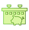 pig farm flat icon animal green icons in trendy vector image vector image