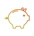piggy bank safety money investment commerce vector image