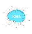quick tips badge with speech bubble idea brain vector image vector image