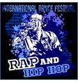 Rap hip hop graffiti - poster vector image