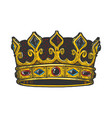 royal crown sketch engraving vector image vector image