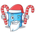 santa with candy measuring cup character cartoon vector image vector image