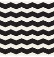 Seamless Black and White Horizontal ZigZag vector image