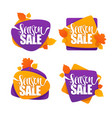 season sale collection of bright autumn vector image vector image