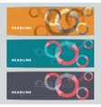 Set of abstract banners with hands and arrows vector image