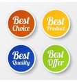 Set of promotional stickers labels vector image