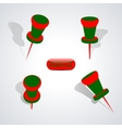 Set of pushpins vector image vector image