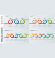 set of timeline chart infographic designs vector image vector image