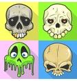 set skulls vector image