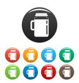 spinach jar icons set color vector image vector image