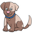 spotted puppy cartoon animal character vector image vector image