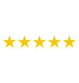 stars five icon on a white background vector image