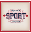 Tennis Sport Badge vector image vector image