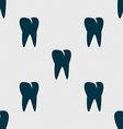 tooth icon Seamless abstract background with vector image vector image