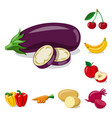 vegetable and fruit icon vector image