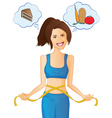 Weight-loss and Diet Woman vector image vector image